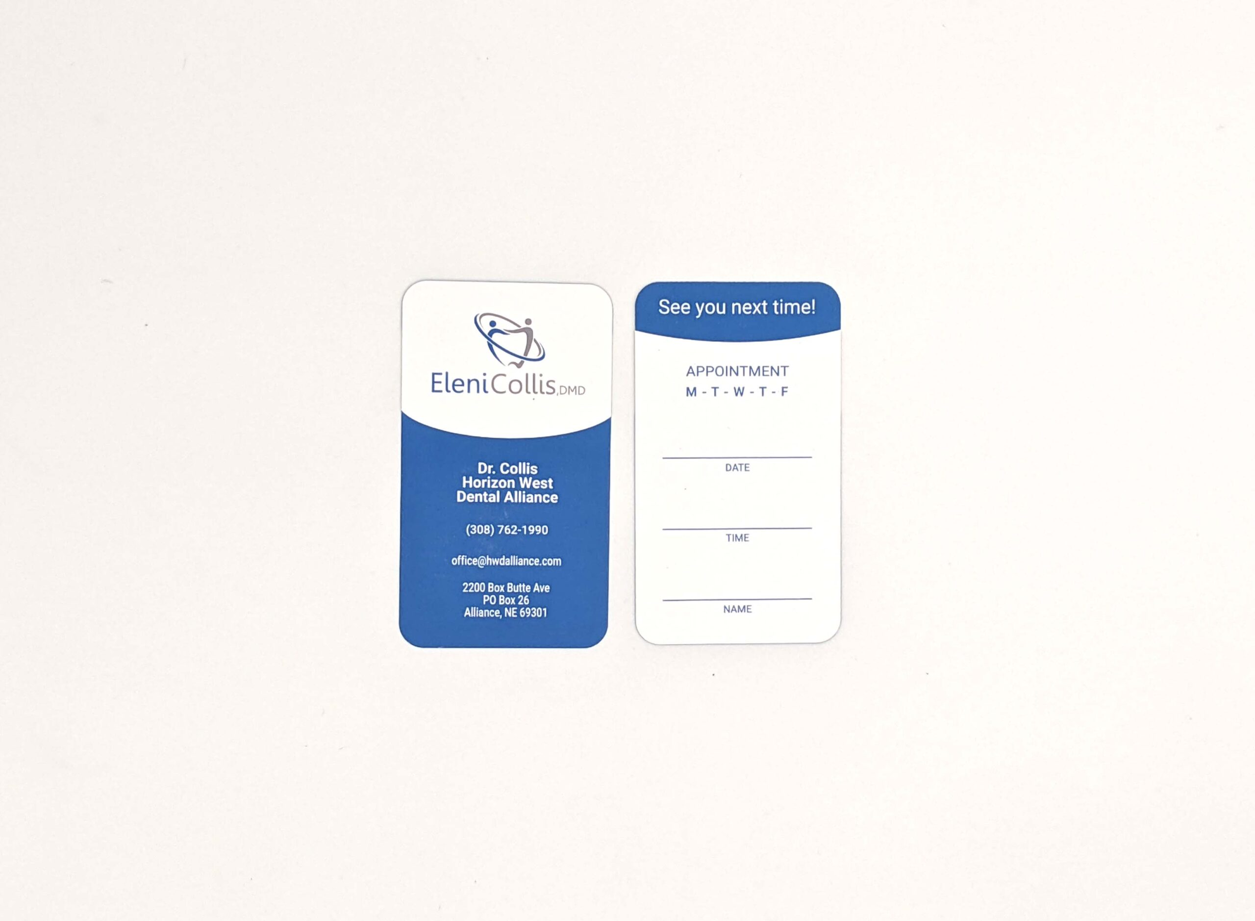 Horizon West Dental Business Cards 2